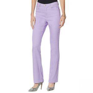 NWT DG2 Stretch Boot Cut Jeans 14 Petite Lavender